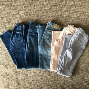 LOT of 5 paid of skinny jeans, Size 12